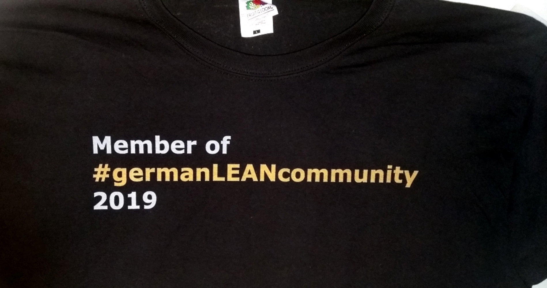 "T-Shirt ""germanLEANcommunity"""
